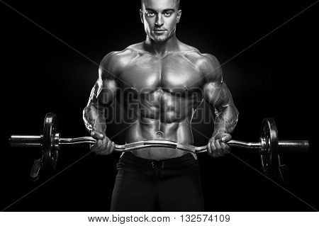Bodybuilder Workout With Barbell