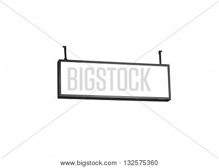 Blank billboard on white background, stock photo
