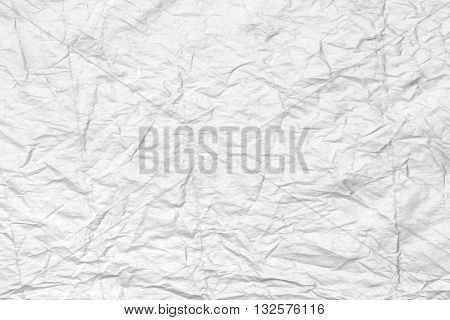 Art Abstract white creased paper background texture.