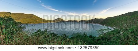 Landscapes and crystalline turquoise beaches of Pontal do Atalaia Arraial do Cabo Rio de Janeiro Brazil. poster