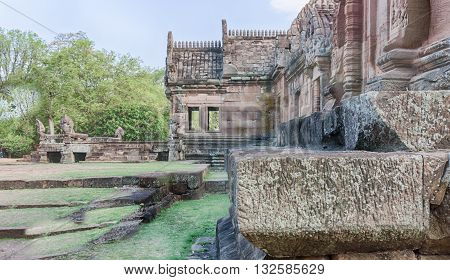 Phanom Rung Historical Park at Buriram in Thailand