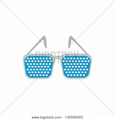 Pinhole glasses icon in cartoon style on a white background