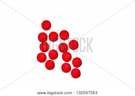 Red Pill amphetamine isolated on white background