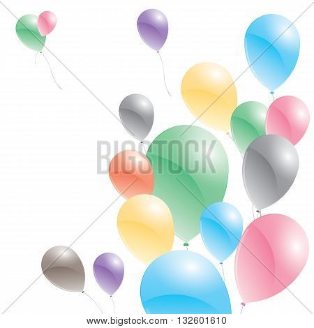 Balloons on a white background. Multicolored balloons.