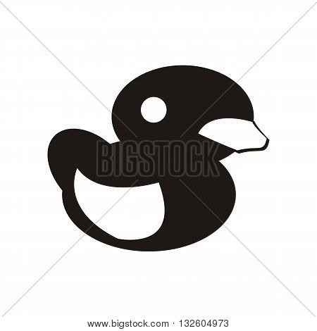 design baby icon toy duck_Black illustration logo vector