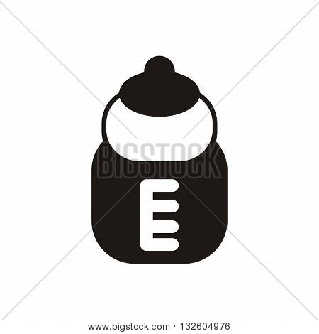 design Baby icon pacifier bottle_Black illustration vector