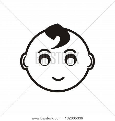 design Baby Icon Face_Black people human vector illustration