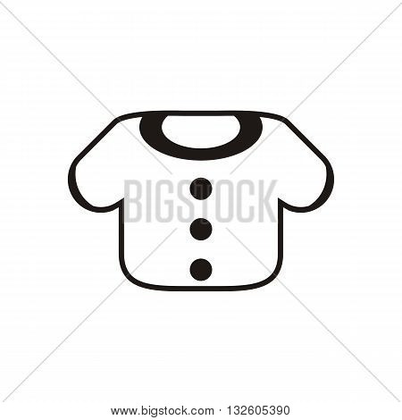 design Baby icon clothing_Black vector illustration logo