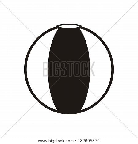 design Baby icon ball_Black toy vector illustration