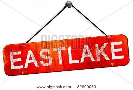 eastlake, 3D rendering, a red hanging sign
