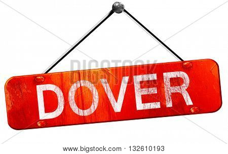 dover, 3D rendering, a red hanging sign