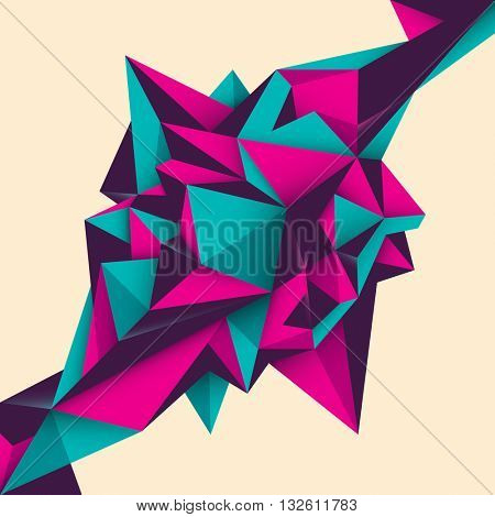 Geometric abstract object. Vector illustration.