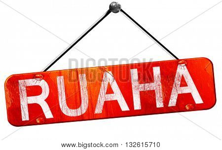 Ruaha, 3D rendering, a red hanging sign