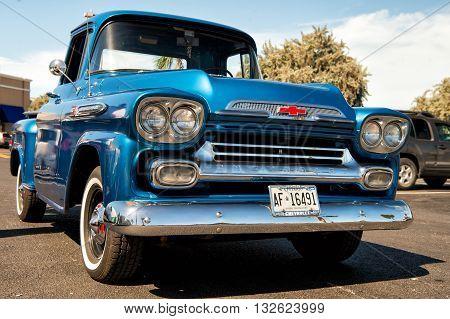 Chevrolet Apache Retro Blue Car