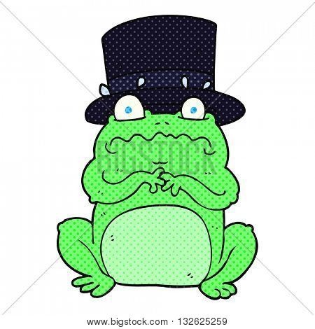 freehand drawn cartoon wealthy toad