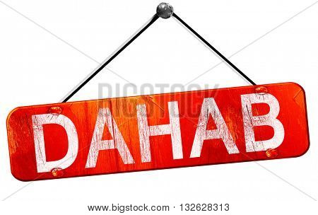 dahab, 3D rendering, a red hanging sign