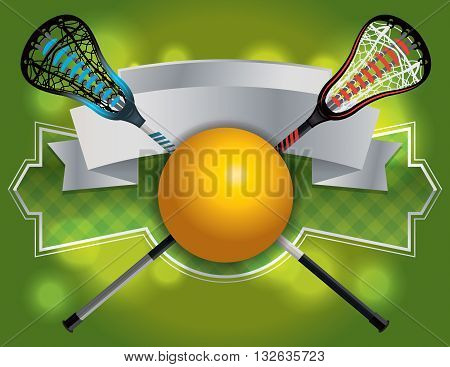 Lacrosse Emblem And Banner Illustration