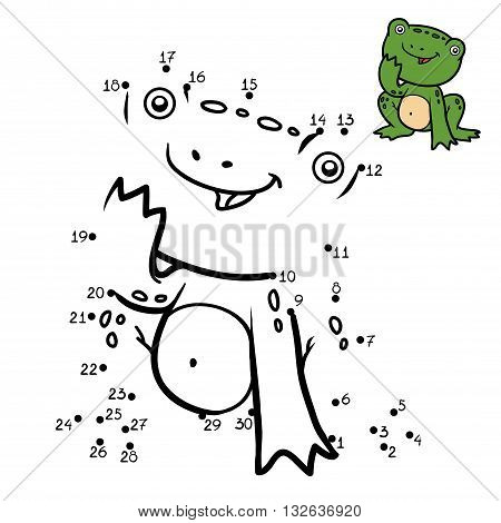 Numbers Game For Children. Little Frog
