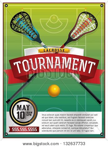 Lacrosse Tournament Flyer Template