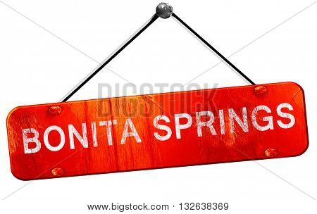 bonita springs, 3D rendering, a red hanging sign