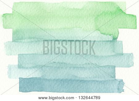 blue green brush stroke layers watercolor abstract background
