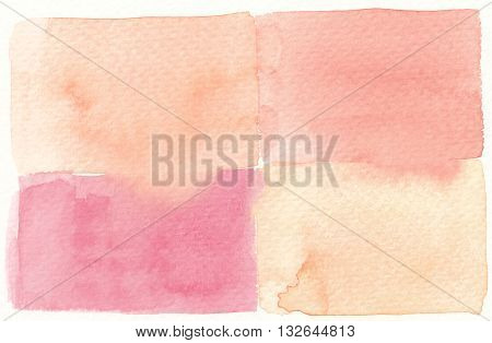 square abstract textures light tones watercolor background