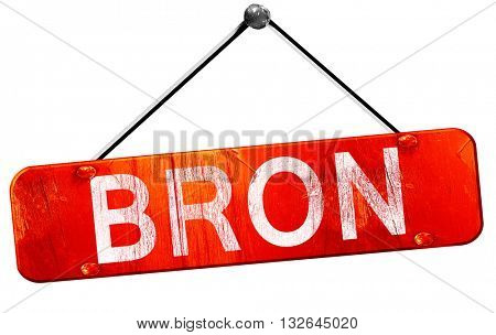 bron, 3D rendering, a red hanging sign