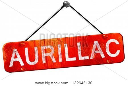 aurillac, 3D rendering, a red hanging sign