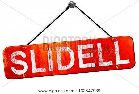 slidell, 3D rendering, a red hanging sign
