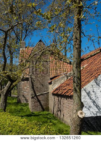 the old City of enkhuizen in holland