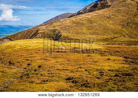 Foothill Of The Macgillycuddy's Reeks In Kerry Ireland