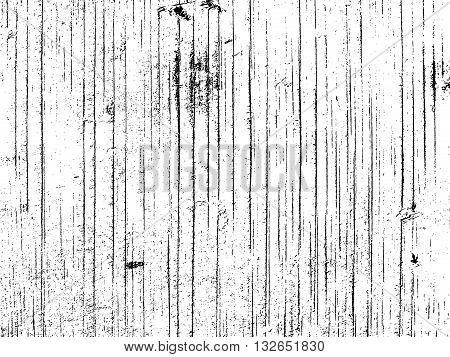 Wooden plank texture overlay. Dry weathered wood texture. Close-up of aged rustic barnwood texture. Abstract grunge white and black background. Vector illustration