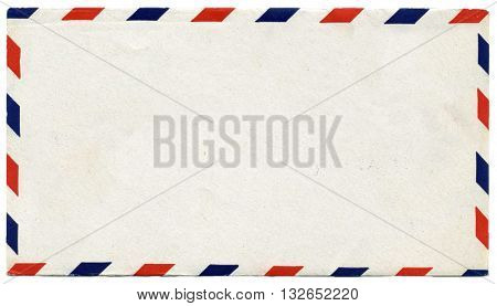 Vintage blank air mail envelope with copy space