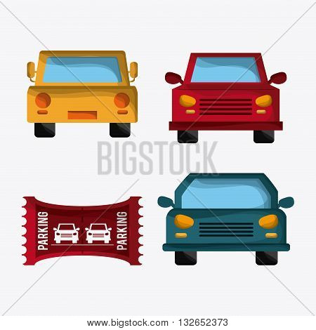 Parking lot concept with icon design, vector illustration 10 eps graphic.