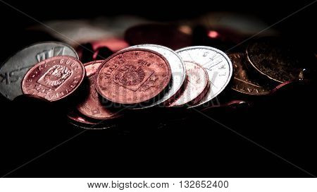 water, money in water, red, bloody, money laundering, criminal money, money of the different countries, a black background, secret