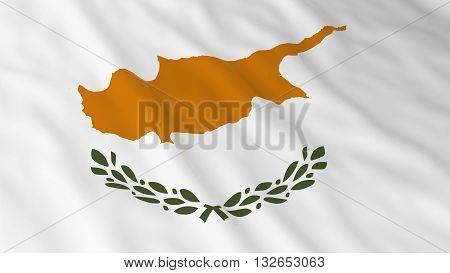 Cypriot Flag HD Background - Flag of Cyprus 3D Illustration