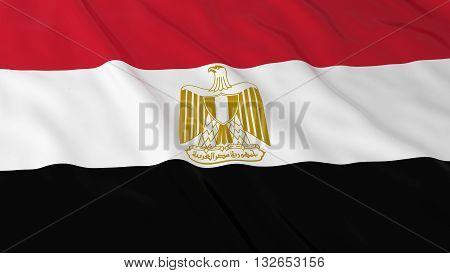Egyptian Flag HD Background - Flag of Egypt 3D Illustration