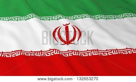 Iranian Flag HD Background - Flag of Iran 3D Illustration