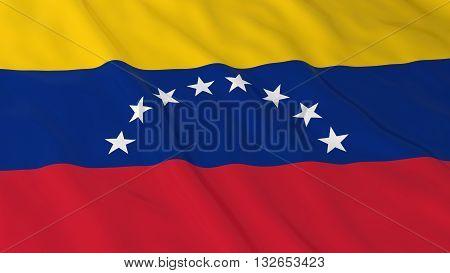 Venezuelan Flag HD Background - Flag of Venezuela 3D Illustration