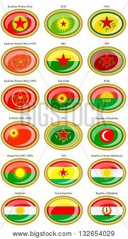 Flags Of The Kurdistan