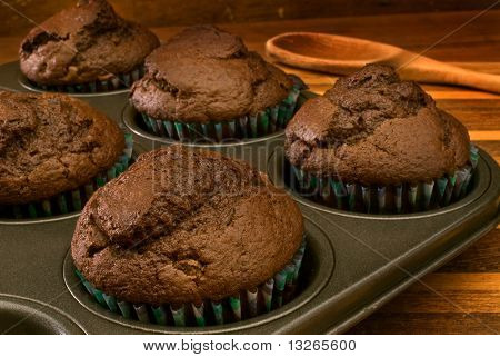 Chocolate Muffins In Tin