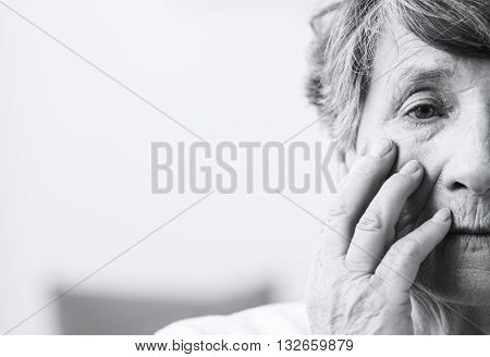 Loneliness And Old Age Appear In Shades Of Gray