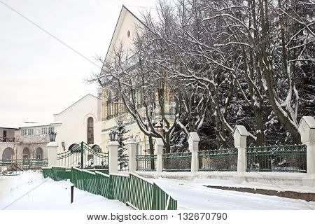 Building of spiritual seminary and administrative building of monastery on territory of Trinity Lavra of St. Sergius