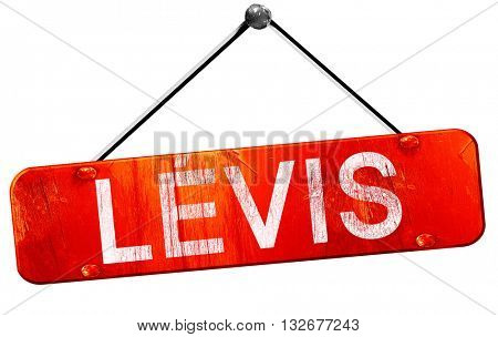 Levis, 3D rendering, a red hanging sign