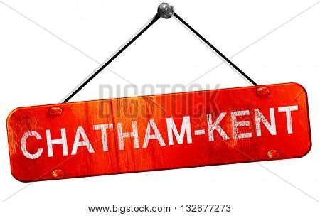 Chatham-kent, 3D rendering, a red hanging sign