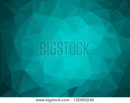Colorful polygon background or vector frame. Abstract Triangle Geometrical Background, Vector Illustration EPS10. Geometric design for business presentations. teal aqua blue.