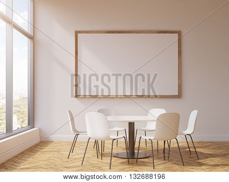 Frame And Round Conference Table