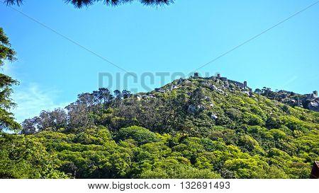 Sintra mountainous area, the mountain peak was the royal castle.