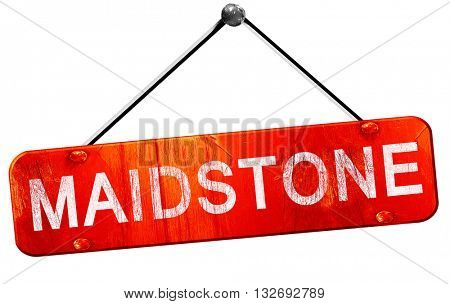 Maidstone, 3D rendering, a red hanging sign