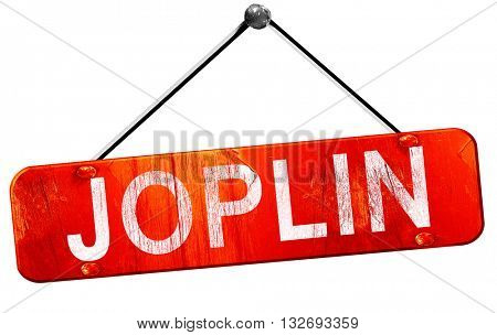 joplin, 3D rendering, a red hanging sign